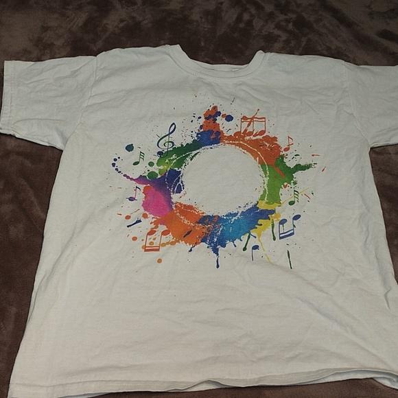7dd834273ecd0 Rainbow paint splatter shirt